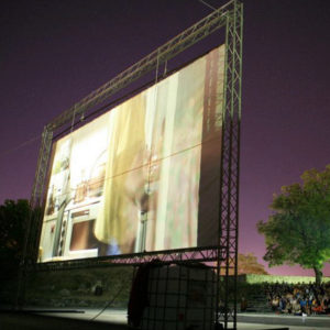 preiswertes openairkino mit 3 5 2m leinwand mieten. Black Bedroom Furniture Sets. Home Design Ideas